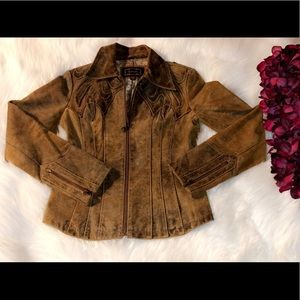 GUESS Vintage Western Style Suede Jacket